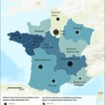 femmes licenciées par région (France, 2019)