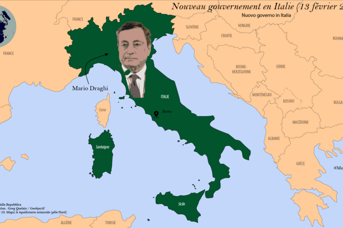 Mario Draghi à la tête du nouveau gouvernement italien (février 2021)