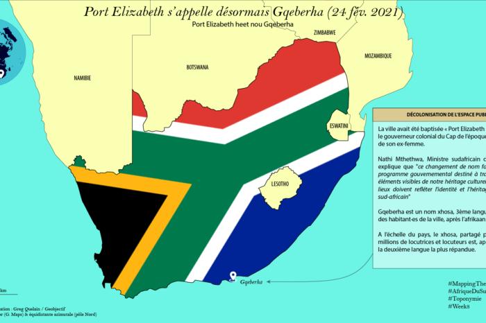 Port Elizabeth (Afrique du Sud) s'appelle désormais Gqeberha