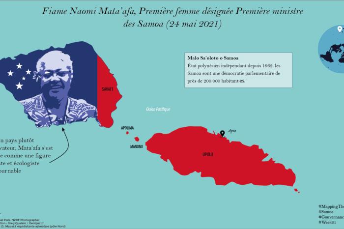 Fiame Naomi Mata'afa, première femme Première ministre des Samoa (mai 2021)